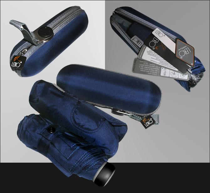 мини зонт темно синий с футляром